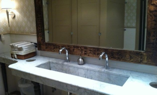 Extra Wide Undermount Bathroom Sink For Large Areas Bath Sinks With Regard To Long Undermount Bathroom Sink Trough Sink Bathroom Trough Sink Sink