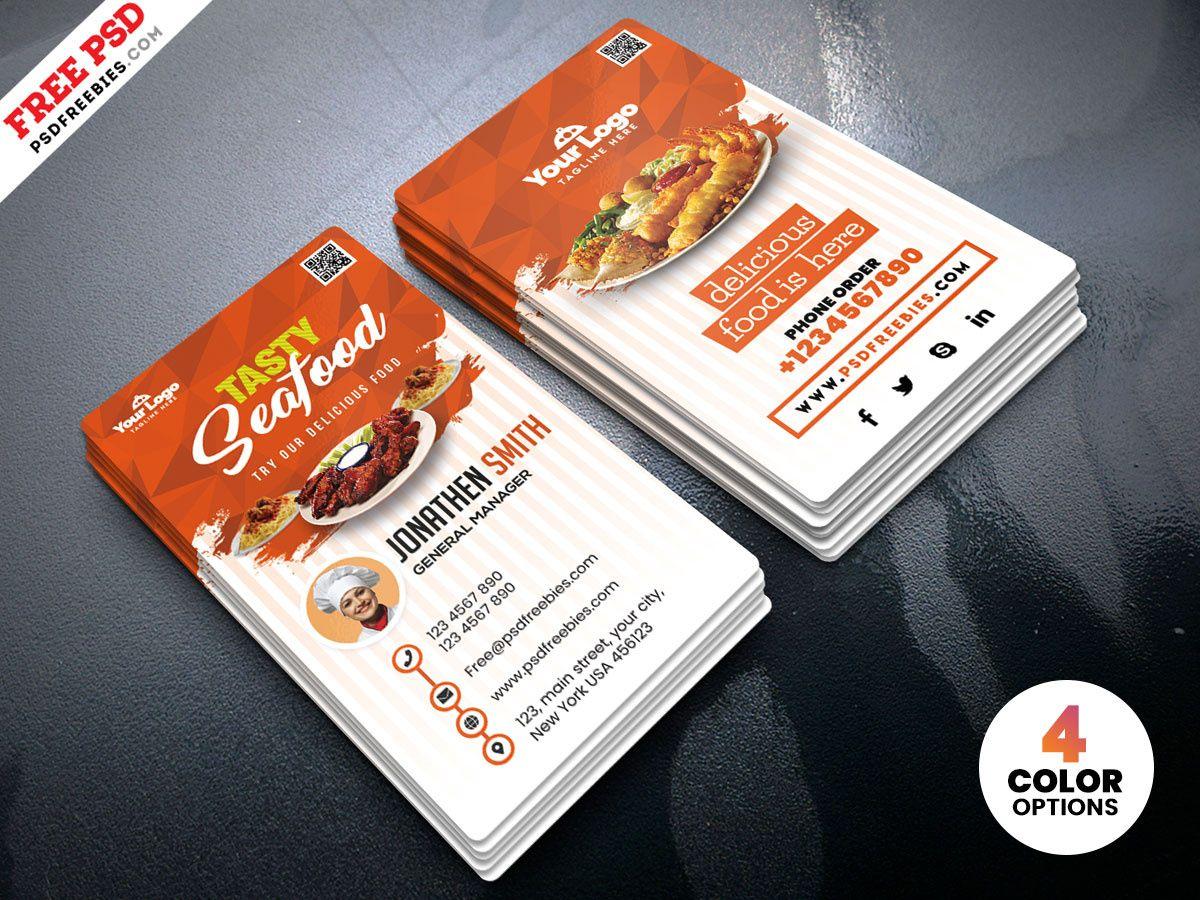 Fast Food Restaurant Business Card Psdpsd Freebies On Regarding Food Business Car Restaurant Business Cards Food Business Card Business Card Templates Download