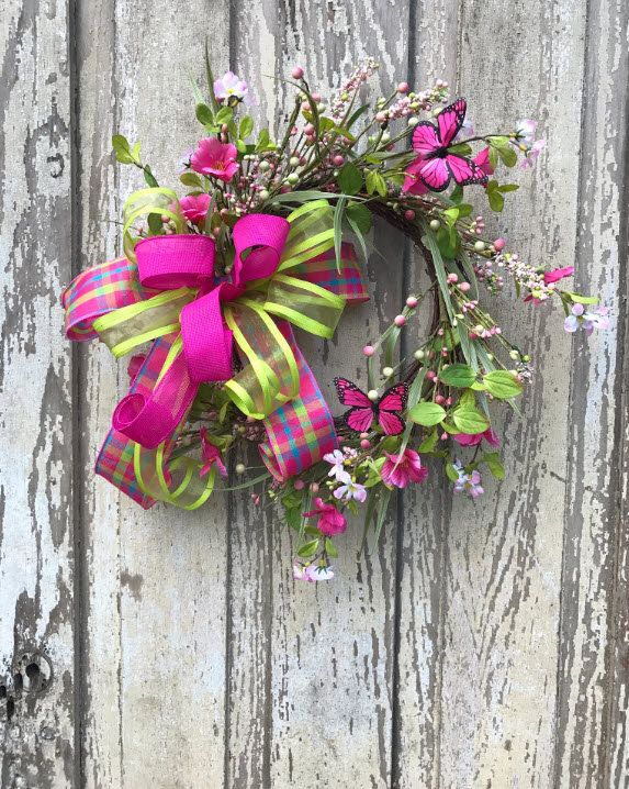 Butterfly Wreath,Spring Wreath,Spring Door Wreath,Summer Wreath Double Door  Wreath,