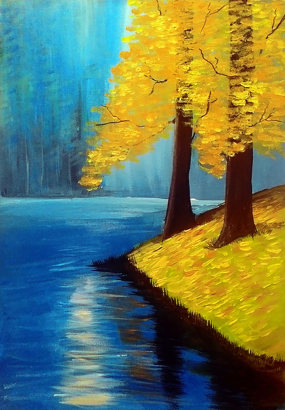15 Acrylic Painting Ideas For Beginners Resimler Akrilik