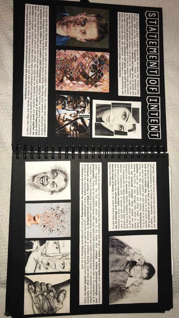 Statement of intent Photography sketchbook, Art