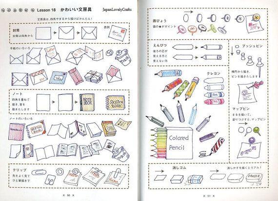 Stylo Bille Stylo Carnet De Dessin Japonais Facile Dessin
