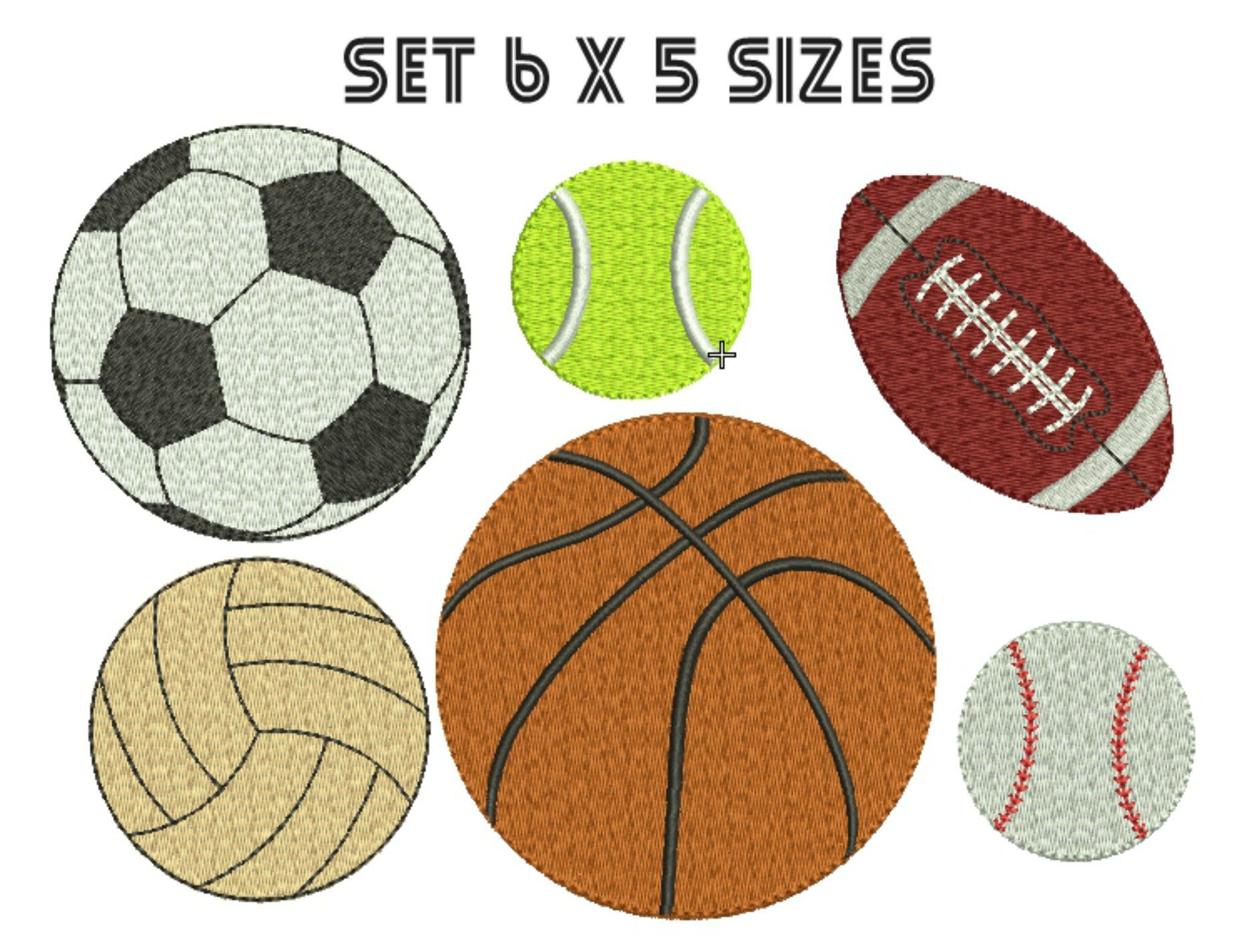Volleyball Embroidery Design Basketball Sport Soccer Ball Etsy Embroidery Designs Machine Embroidery Designs Machine Embroidery