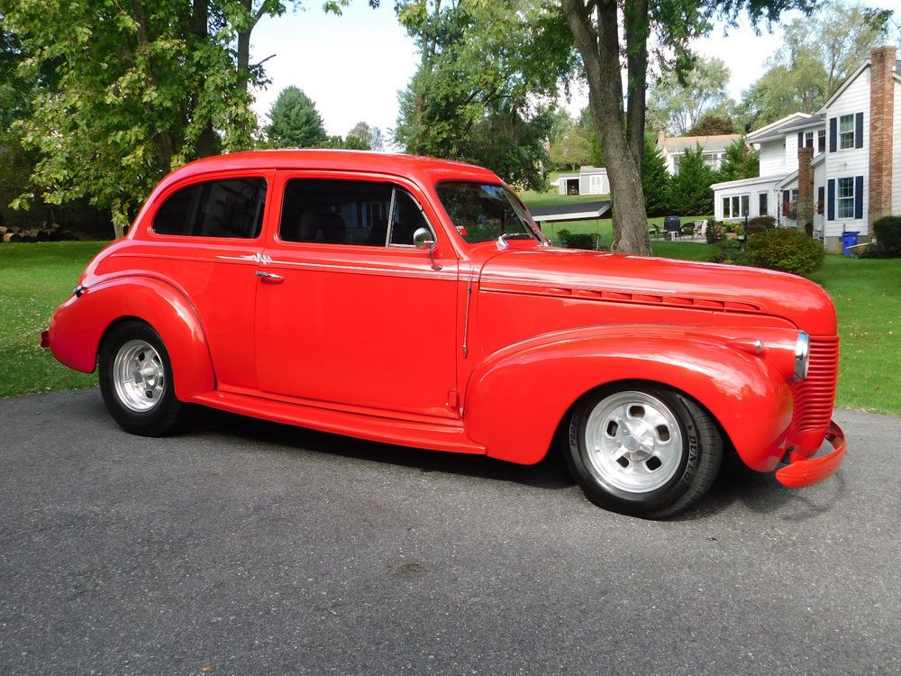 1940 Chevrolet Master Deluxe Sedan Street Rod Resto Rod 350 Chevy A C Custom Interior Turbo 350 Pwr Disc Brakes Pwr R Hot Rod Trucks Amazing Cars Chevy