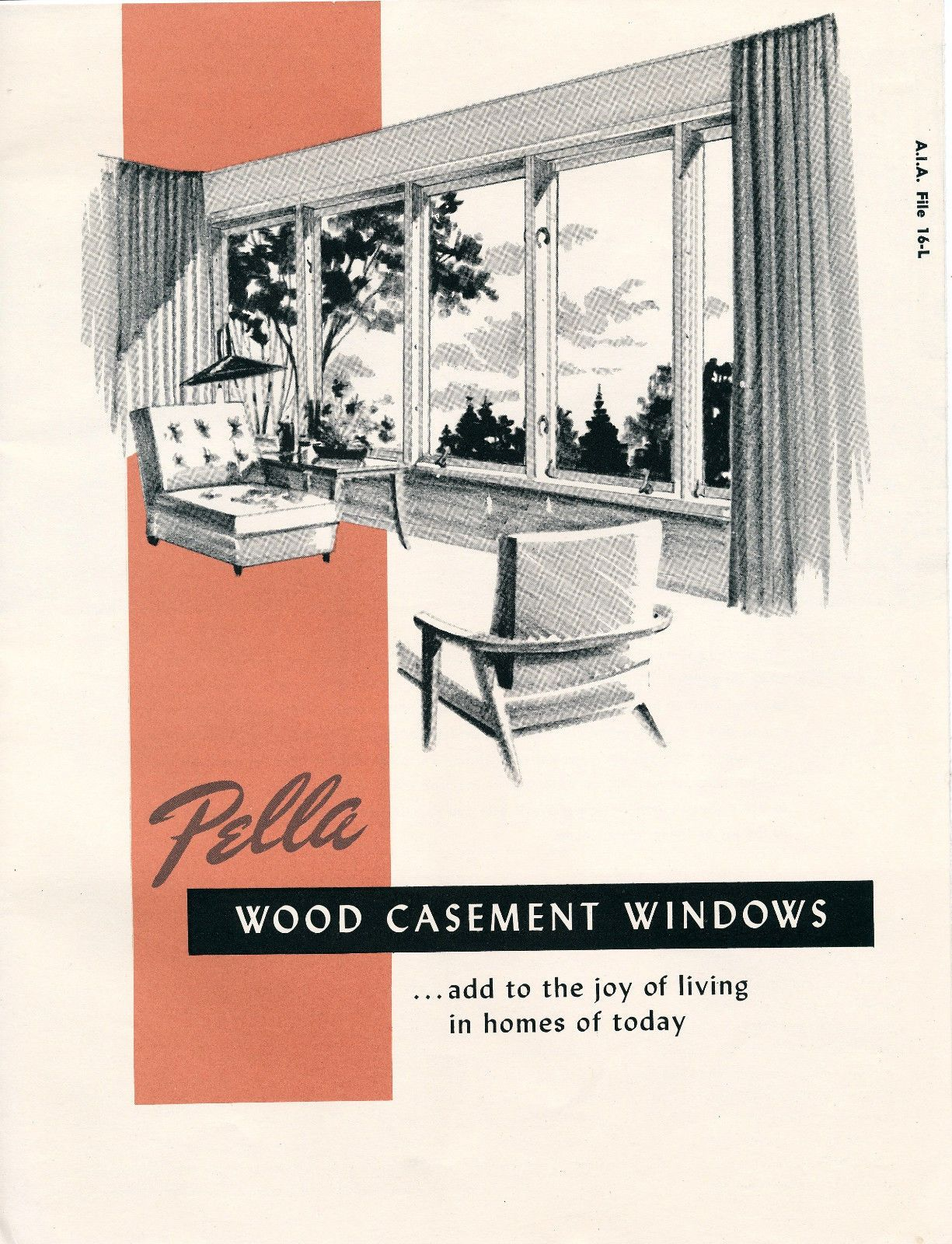Vintage pella wood casement windows brochure circa 1950 1952 mid vintage pella wood casement windows brochure circa 1950 1952 mid century ebay geenschuldenfo Gallery