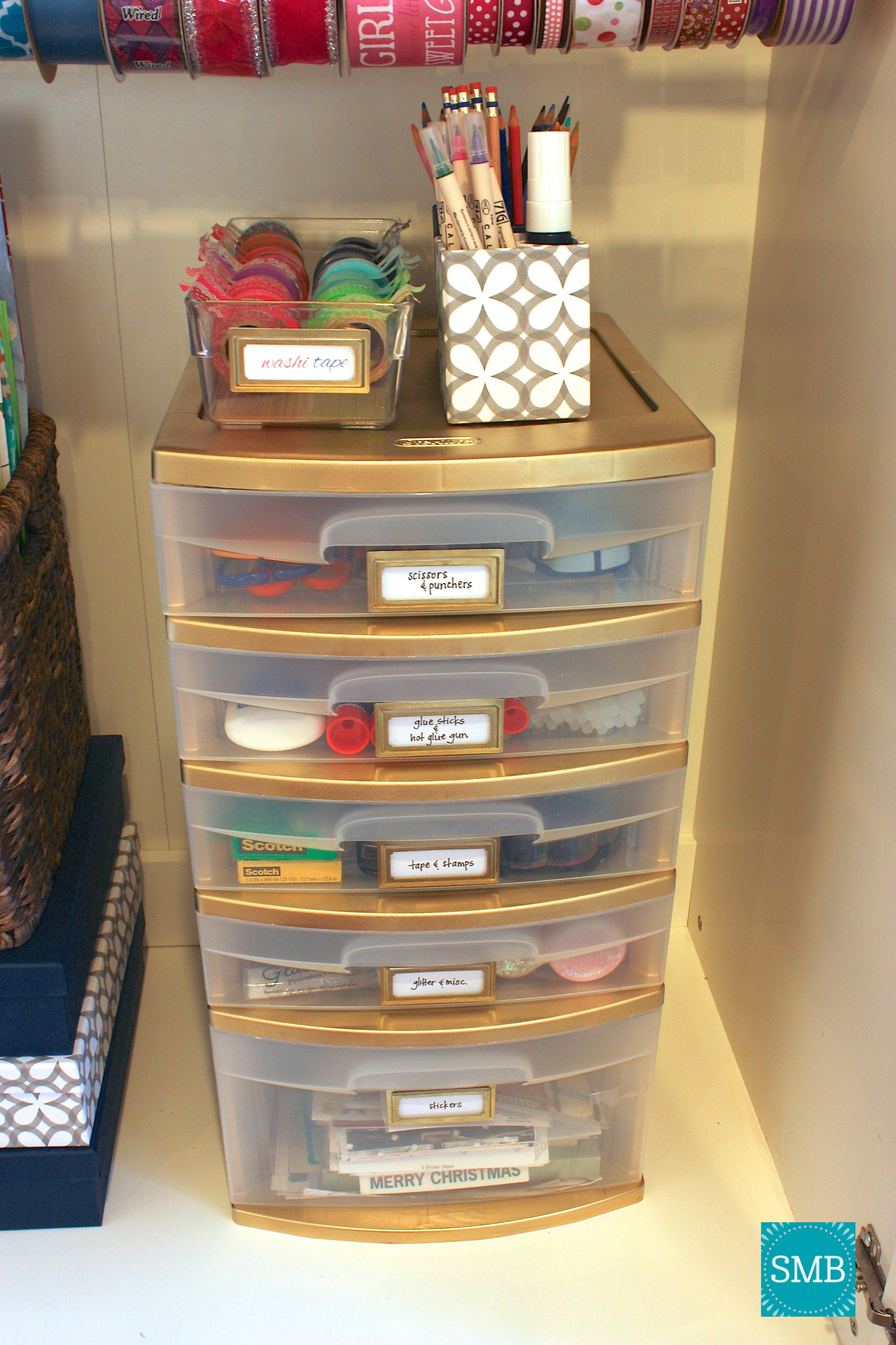 painted plastic storage drawers Style My Space Pinterest