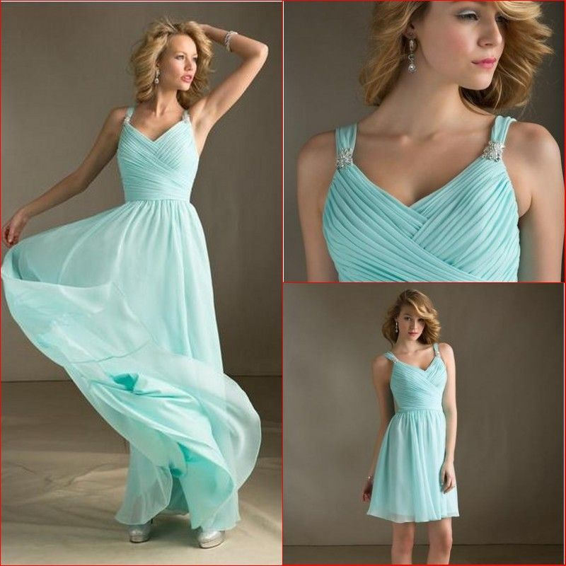 Cheap aqua bridesmaid dresses