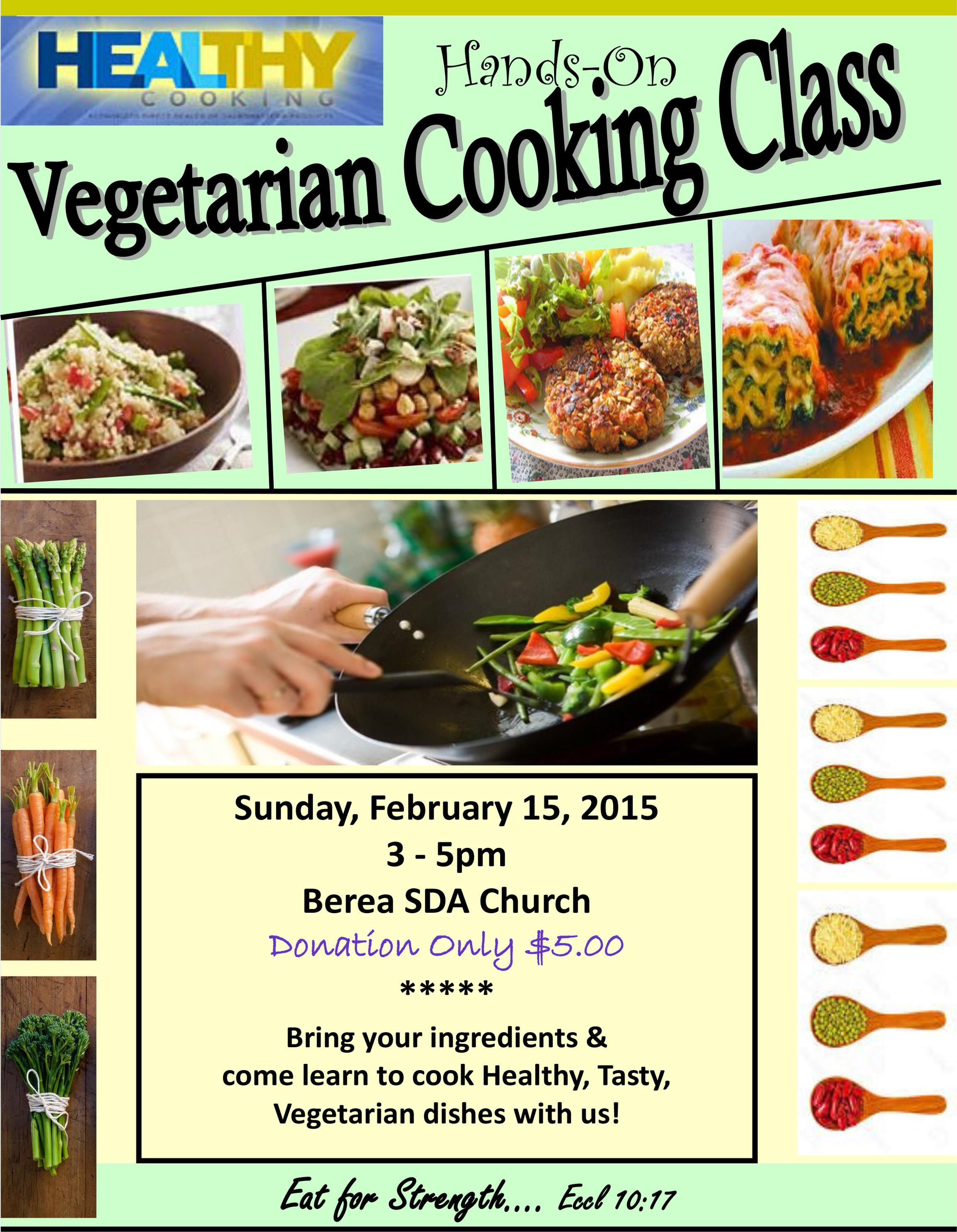 2015 cooking class flyer vegetarian cooking classes. Black Bedroom Furniture Sets. Home Design Ideas