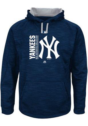 Majestic New York Yankees Mens Navy Blue On Field Team Streak Fleece Hoodie Mens Sweatshirts Hoodie Yankees New York Yankees Apparel