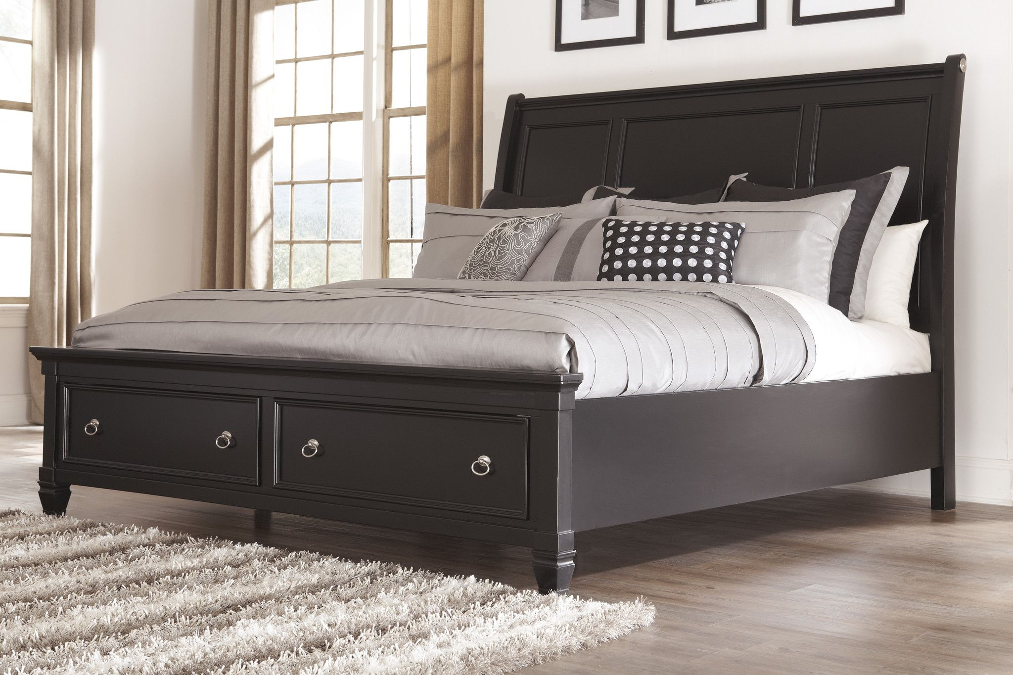Greensburg Storage Sleigh Bed California king bed frame