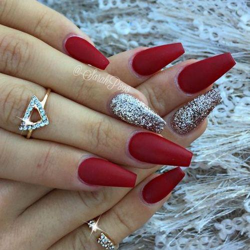 acrylic christmas nails