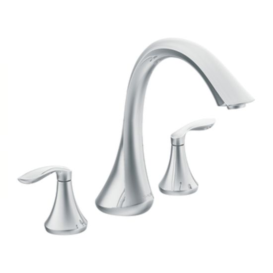 Moen T943bn Eva Two Handle High Arc Roman Tub Faucet In Brushed