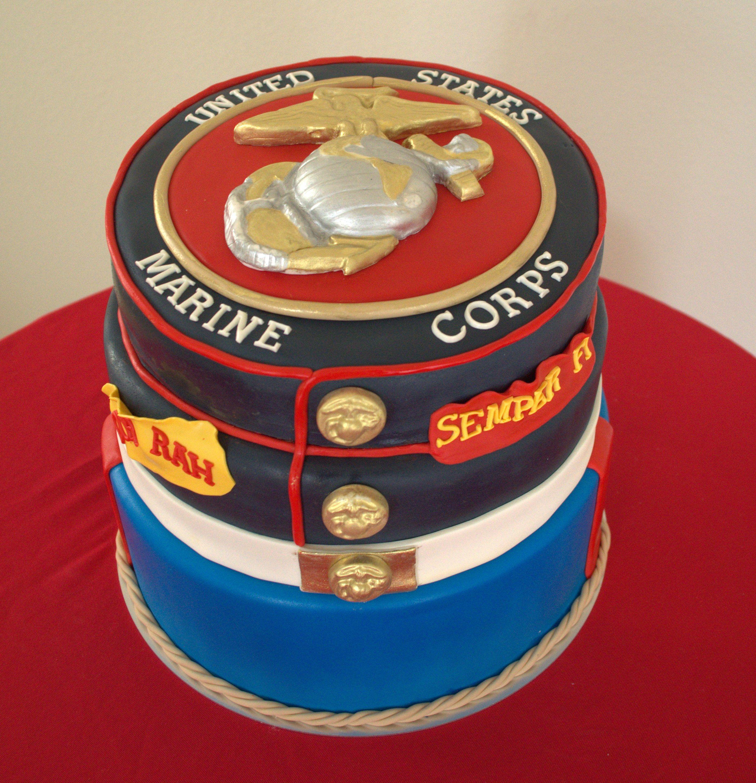 US Marine Corp Cake US Marince Cake Marine cake, Marine