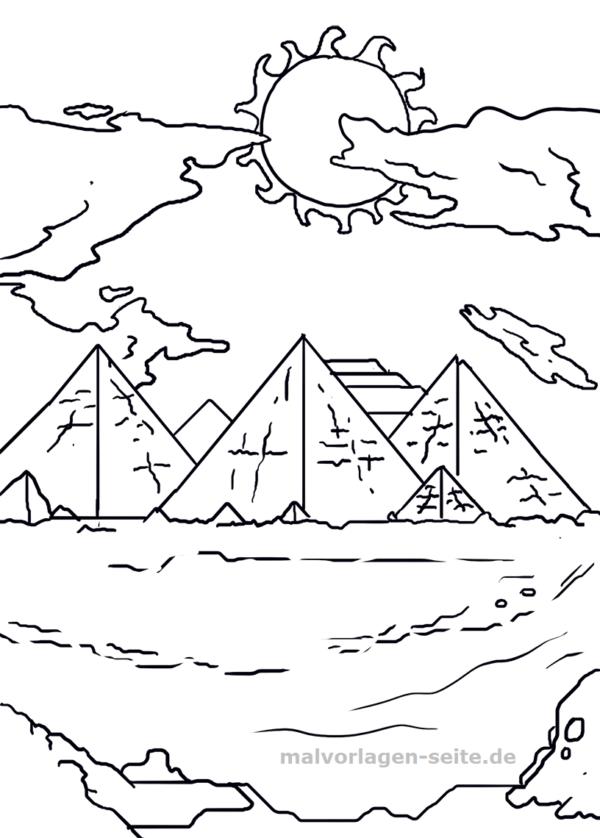 Malvorlage Pyramiden Gebäude Malvorlagen Vorlagen