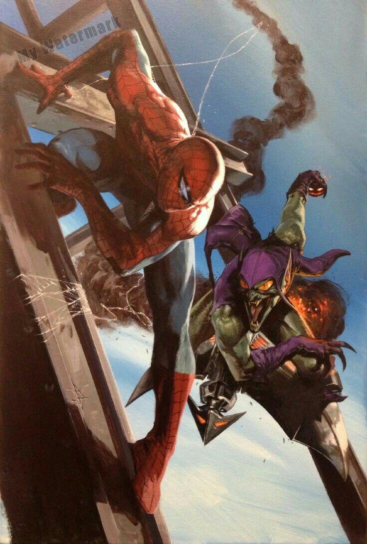Spiderman Y El Duende Verde Comic Art Pinterest Spider Man