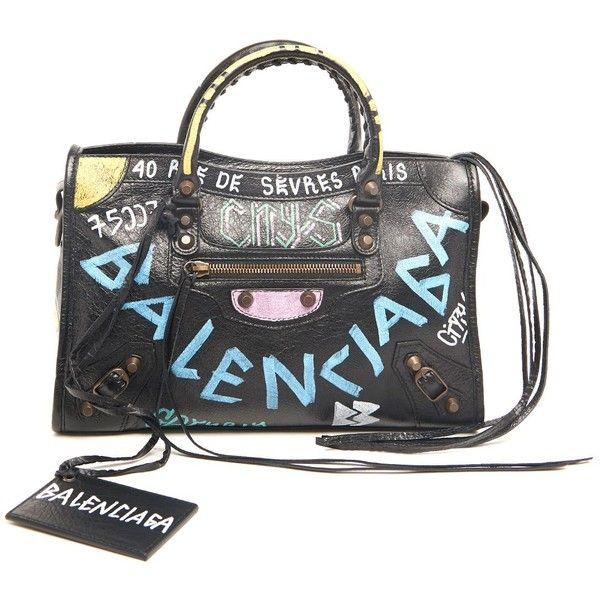 BALENCIAGA Hand Bag  Classic City S   In Cuir Arena Graffiti All Over (2 0b0fd2c28653d