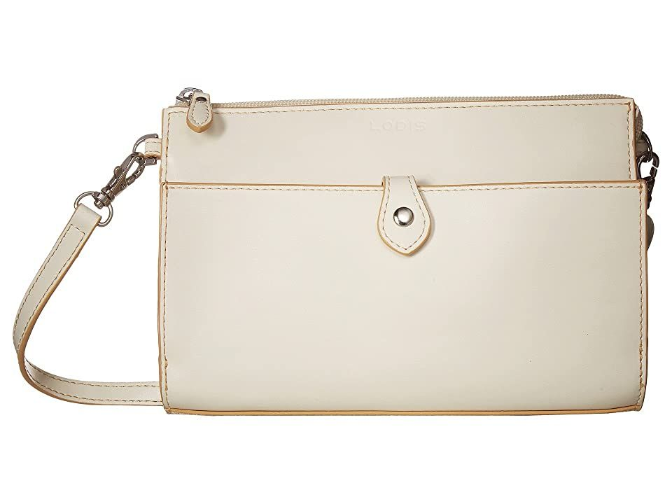 Lodis Accessories Audrey Rfid Vicky Convertible Crossbody Clutch  Cream  Natural  Clutch Handbags