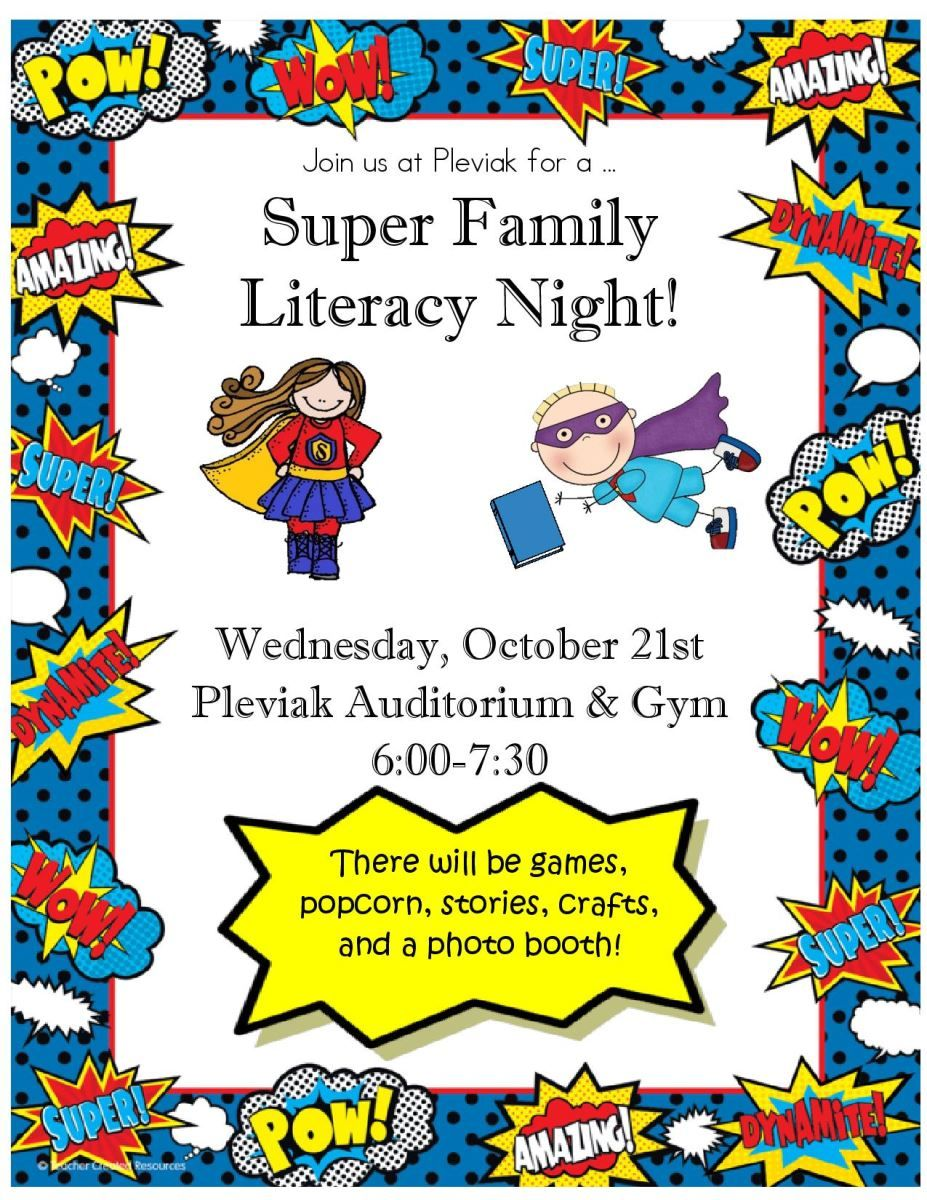 Family Literacy Night Flyer Google Search Parent Involvment