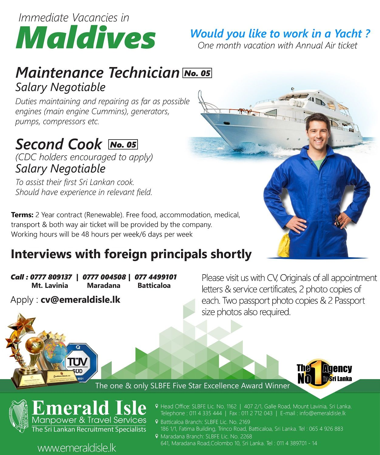 foreign vacancies emerald isle manpower sri lanka recruitment foreign vacancies emerald isle manpower sri lanka recruitment solution employment agency sri lanka
