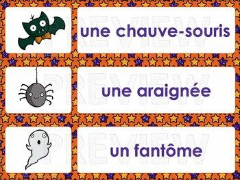 Halloween vocabulary - word wall + scavenger hunt | FRENCH Learning ...