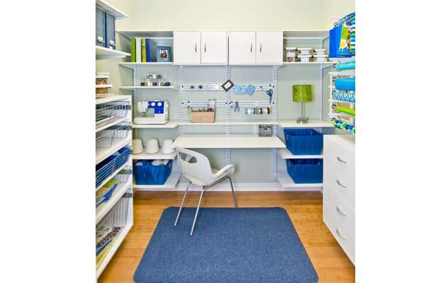 Superbe Craft Room Or Closet An Unorganized Mess? We Can Help With That! White  FreedomRail Hobby Room By Organized Living, Sold At Builders Flooring U0026  Design.