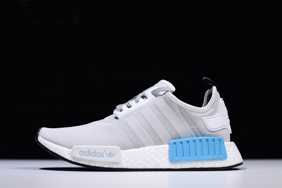6fecb4511 adidas NMD R1 Low-Top White-Grey Bright Cyan Casual Running Shoes S31511