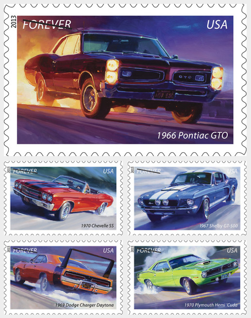 American Muscle Cards stamps