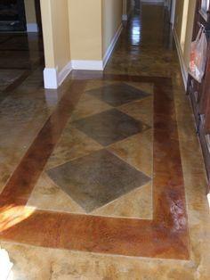 Pattern Acid Etch Concrete Floor