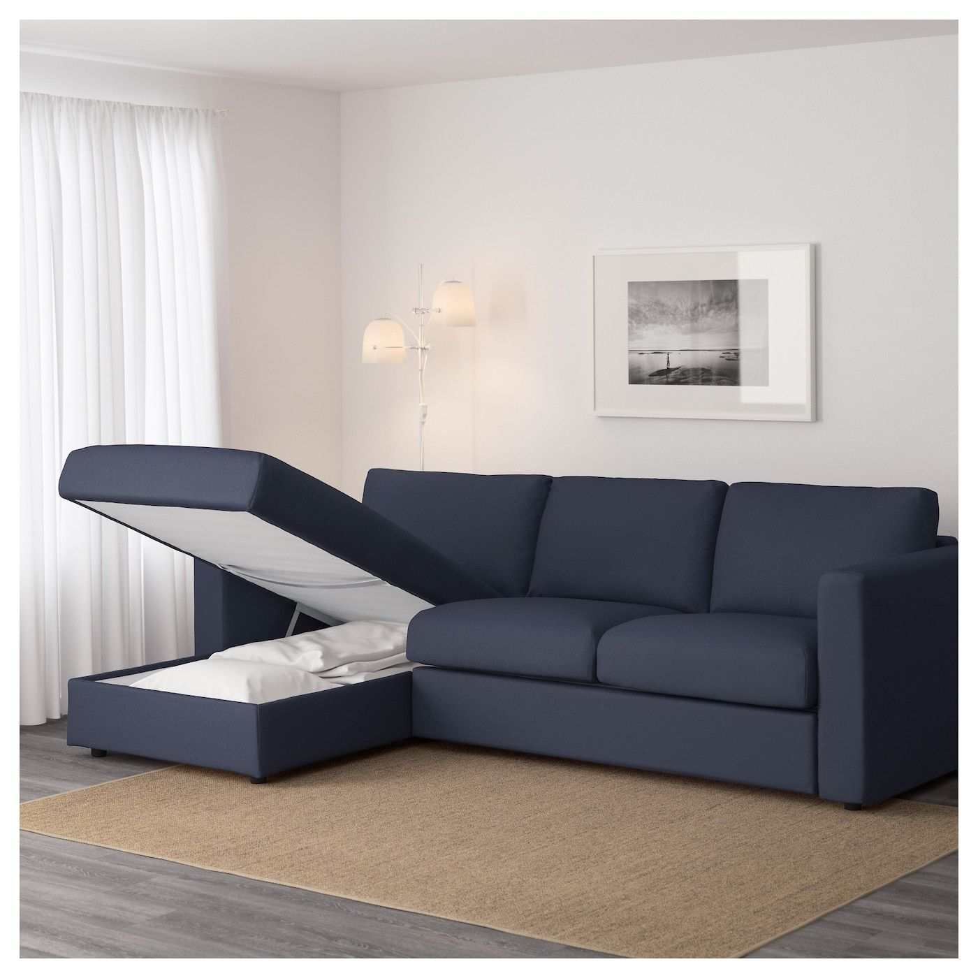 IKEA VIMLE Sofa with chaise, Orrsta blackblue Unique