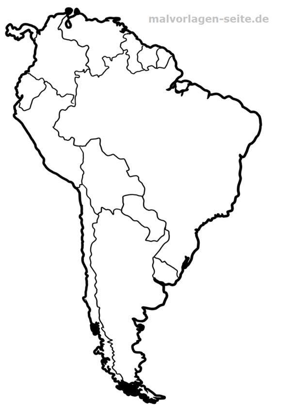 Landkarte Sudamerika Zum Ausmalen Landkarte Ausmalen Und