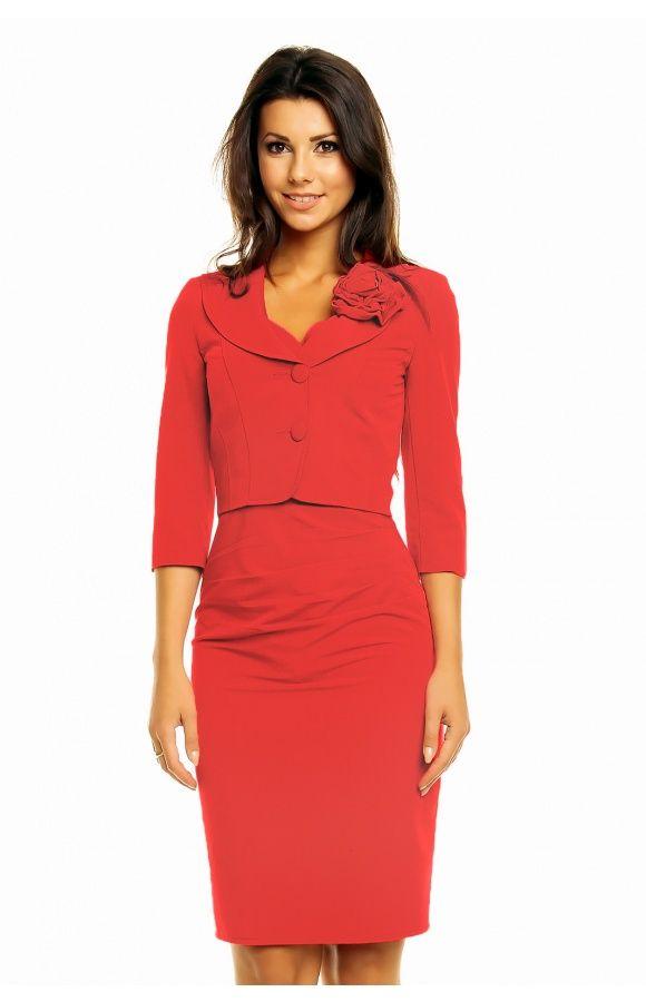 b09654c0ca Pin od KARTES-MODA® na Czerwone sukienki