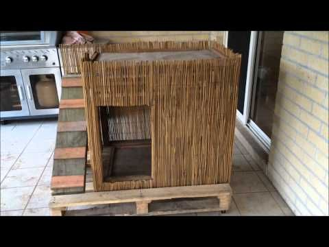 diy double decker hut / two level kennel / dog house - youtube | a