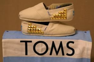 Custom studded TOMS shoes