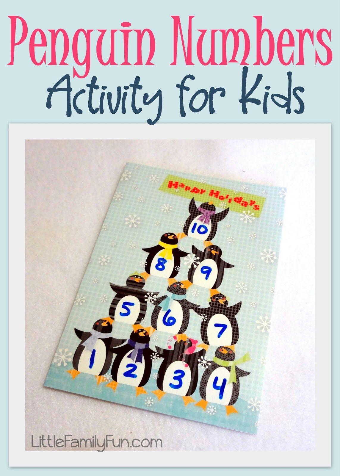 Penguin Numbers Activity