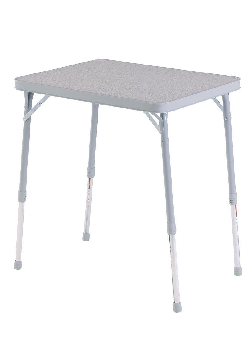 Crespo Mod. 250. 65x53x67 cm  Mesa rectangular  patas telescópicas.  Rectangular table telescopic legs.