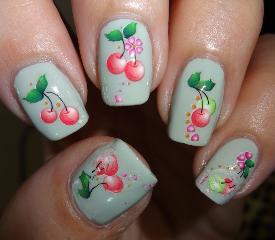 Born Pretty Cherry Water Decals Https Www You Healthy Naiesigner Nailsnail Productsamazing