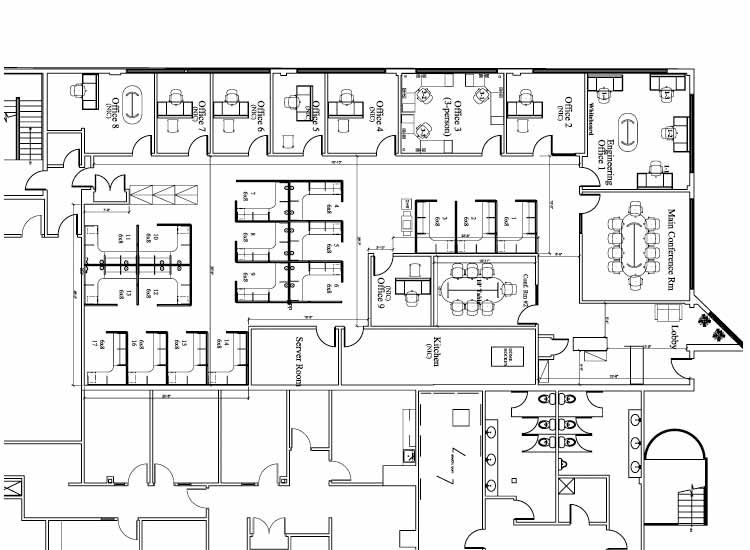 Cubicle Layout Plans Office