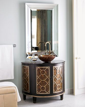 circles chest with sink at horchow for guest room bath too bad i rh pinterest com Luxury Vanity Chairs Bathroom Mirrored Vanity Horchow