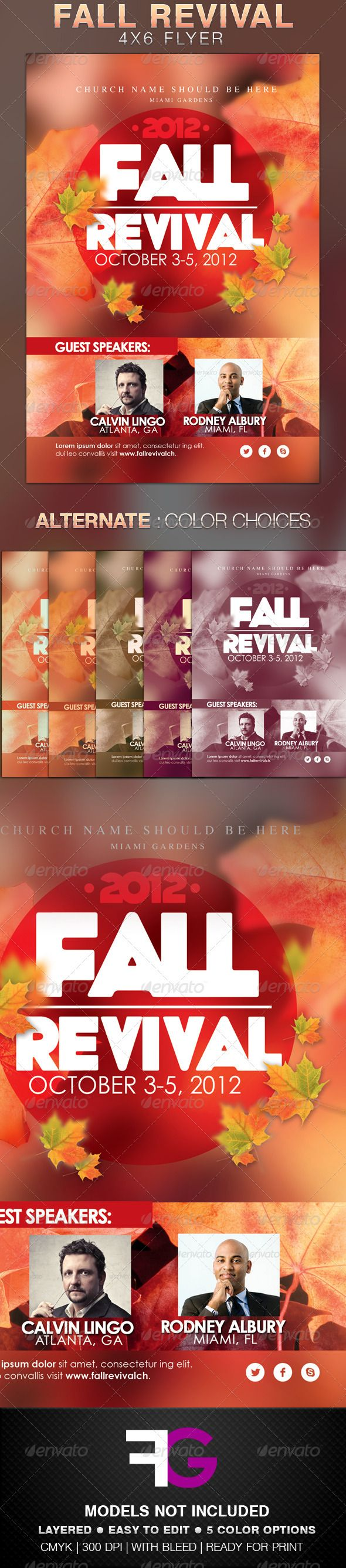 fall revival flyer template fonts church and colourful designs this fall revival flyer template is made for any church program or thanks giving celebration