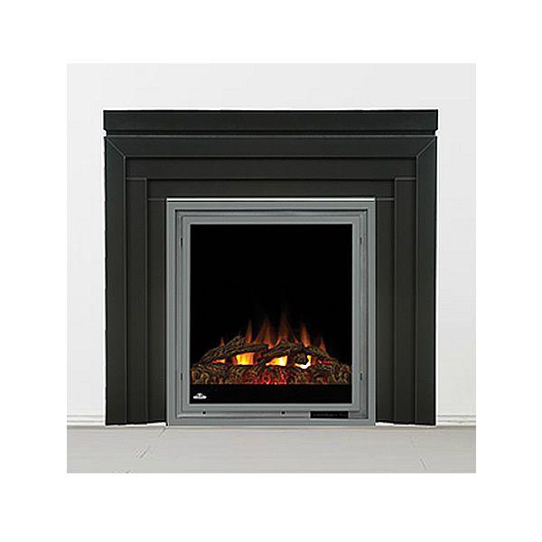 Napoleon Efmm30 Electric Fireplace With Black Metro Mantel