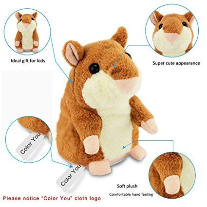 Hamster Repeats What You Say Electronic Pet Talking Plush Toy Cute Children Gift