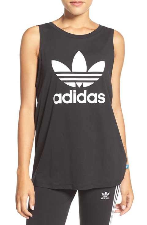 71dbf189a04 adidas Originals Trefoil Logo Relaxed Fit Tank Loose Fitting Tank Tops