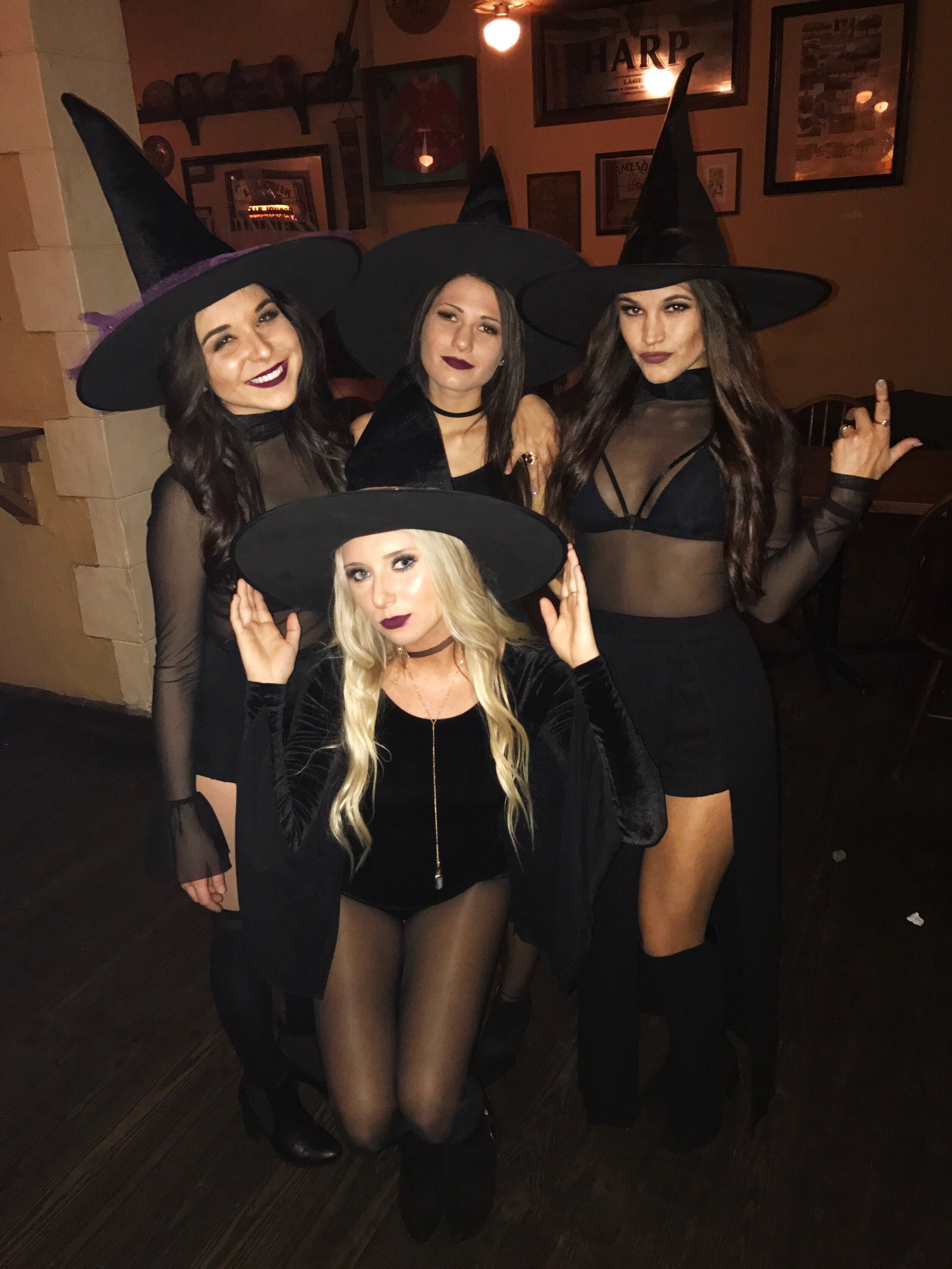 Diy Sexy Witch Costume : witch, costume, Group, Costume, Witches, Witch, Halloween, Costume,, Costumes,, Outfits