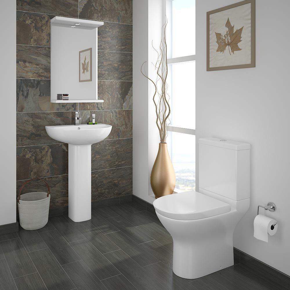 Orion Piece Short Projection Modern Bathroom Suite Contemporary - Designer bathroom suites