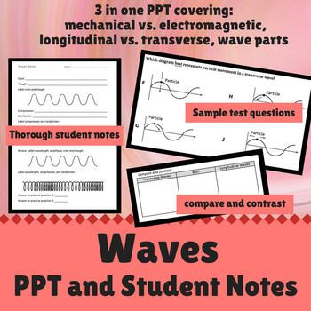 Waves Power Point And Student Notes Students