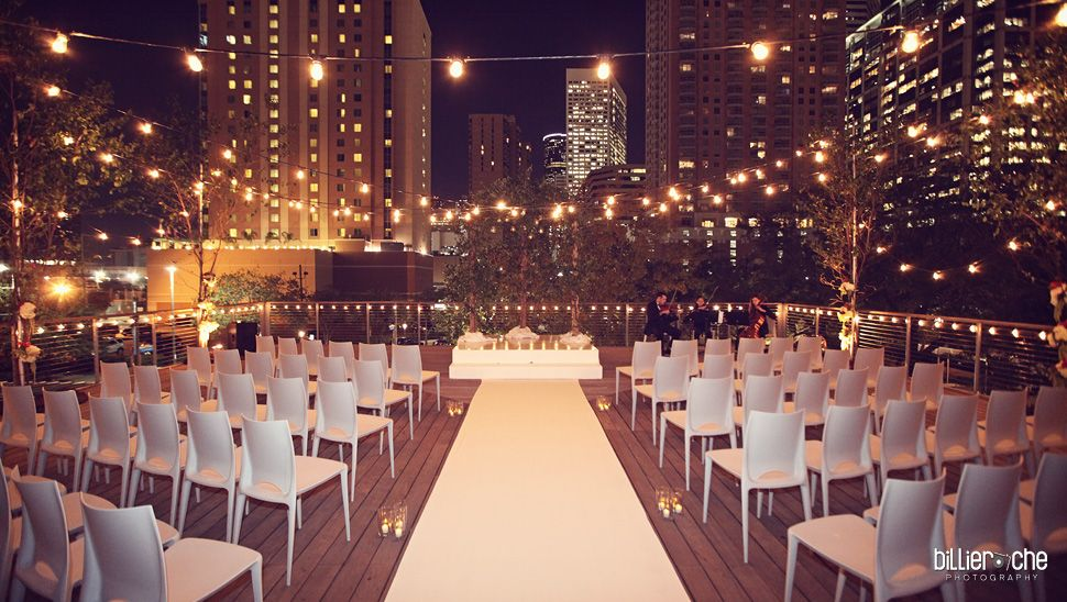 Wedding At The Grove Houston Downtown Treehouse Deckis Is