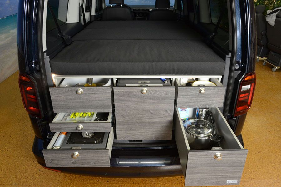 vw caddy maxi mit vanessa campingausbau bus ausbau vw. Black Bedroom Furniture Sets. Home Design Ideas