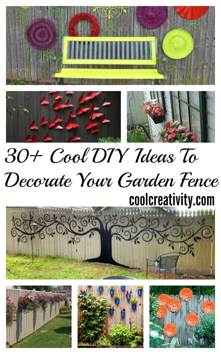 30 Cool Garden Fence Decoration Ideas Garden Fence Art