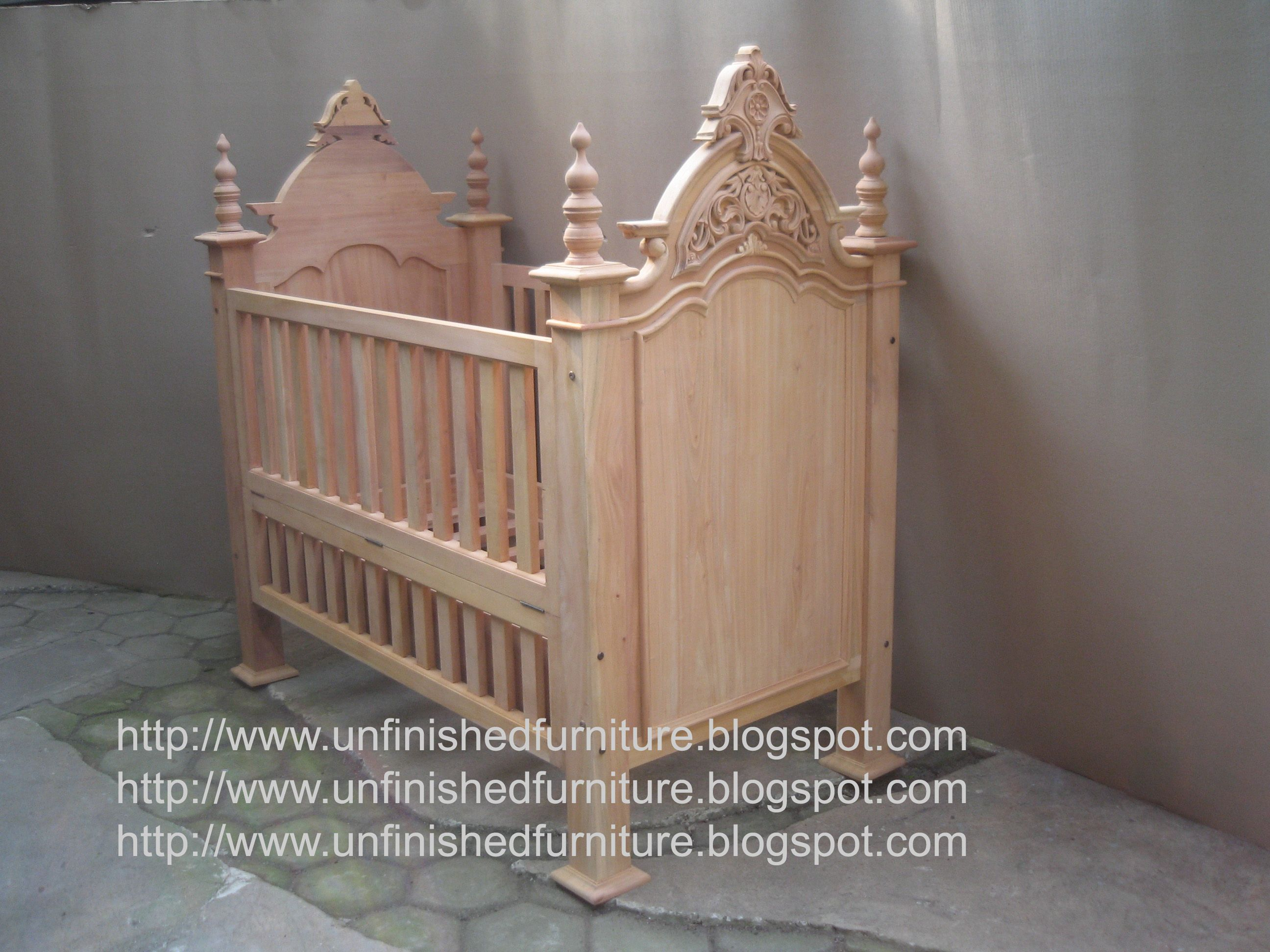 Unfinished crib for sale - Unfinished Mahogany Furniture Victorian Crib Baby Bed Made Of Fine Solid Kiln