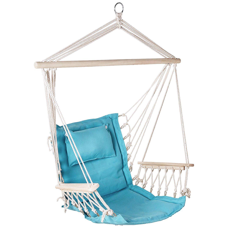 Backyard Expressions Outdoor Hammock Chair Hanging Chair Hammock Swing Solid Aqua Blue Walmart Com In 2020 Hanging Hammock Chair Outdoor Hammock Chair Hammock Swing Chair